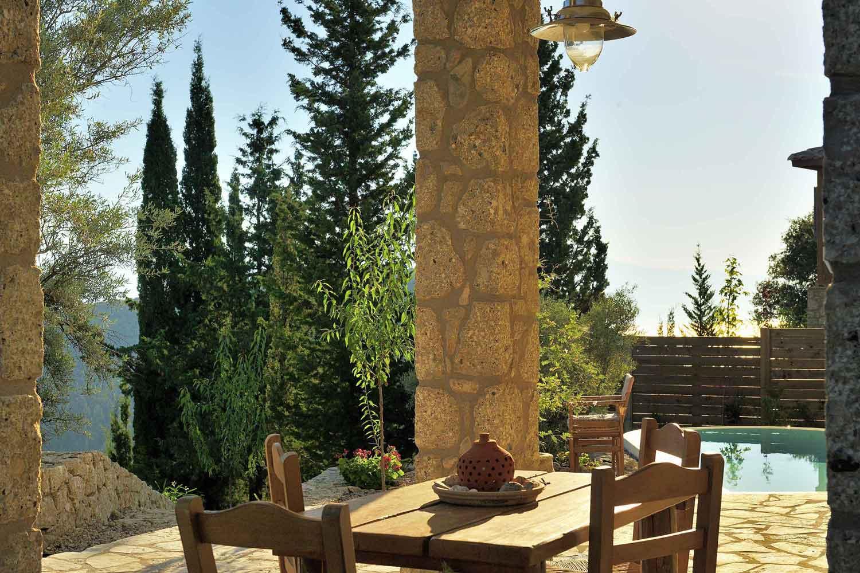 βίλα με ιδιωτική πισίνα για ζευγάρια, τέλεια θέα από τη βεράντα