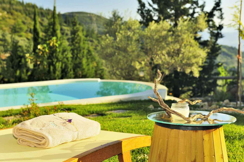 βίλα με ιδιωτική πισίνα - διαμονή, καταπληκτική θέα από την πισίνα