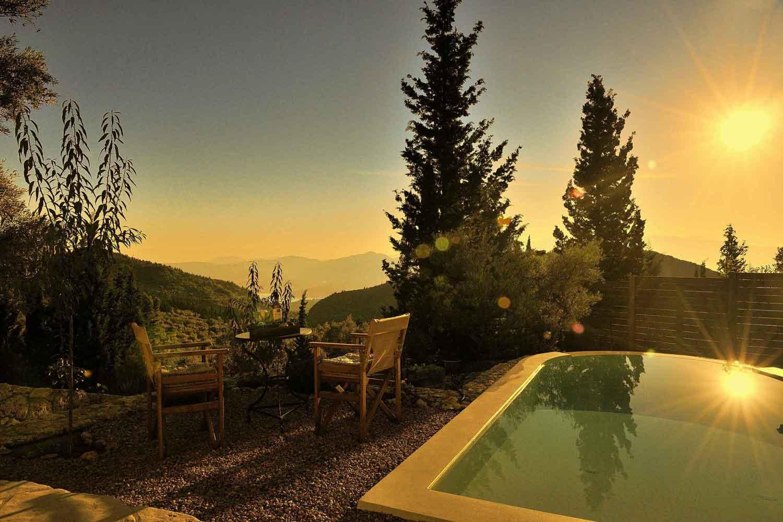 βίλα με ιδιωτική πισίνα στην Ελλάδα,, καταπληκτική θέα στην ανατολή του ηλίου