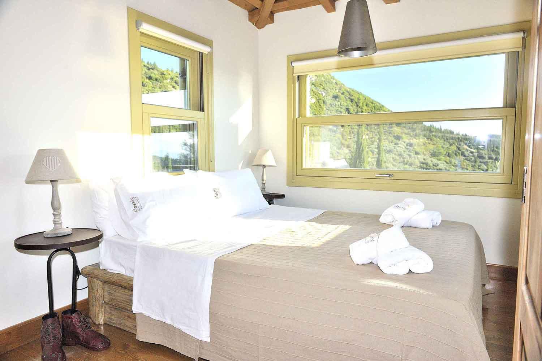 βίλα με ιδιωτική πισίνα για ζευγάρια, όμορφο υπνοδωμάτιο