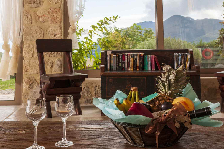 βίλα με ιδιωτική πισίνα, σαλόνι με θέα