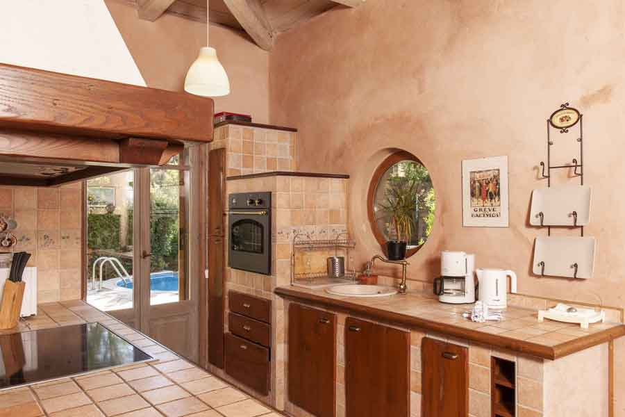 private pool villa, comfortable kitchen