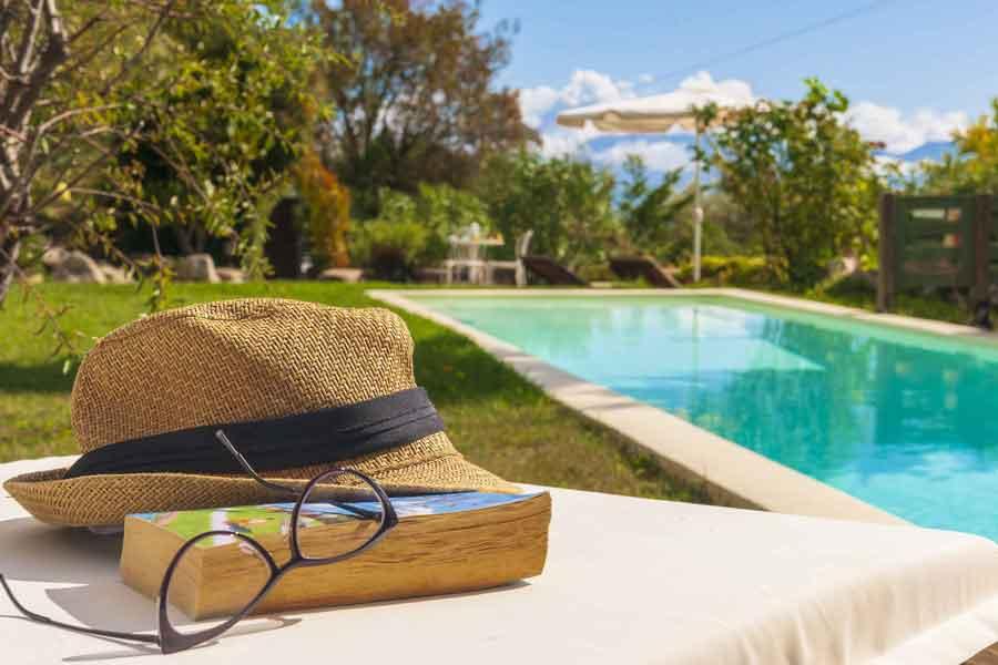 private pool villa at Greek island, luxury holidays