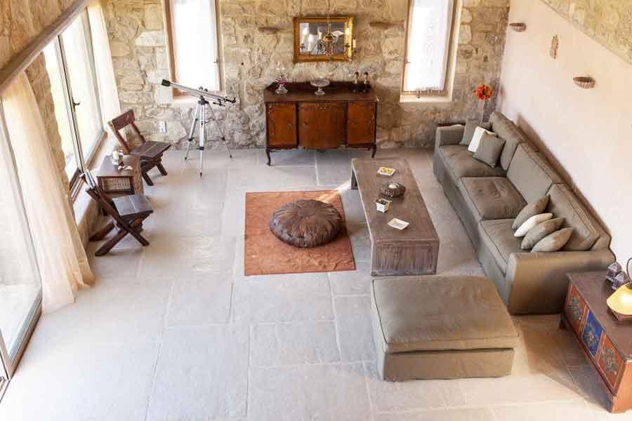 private pool villa - travel - spacious living room