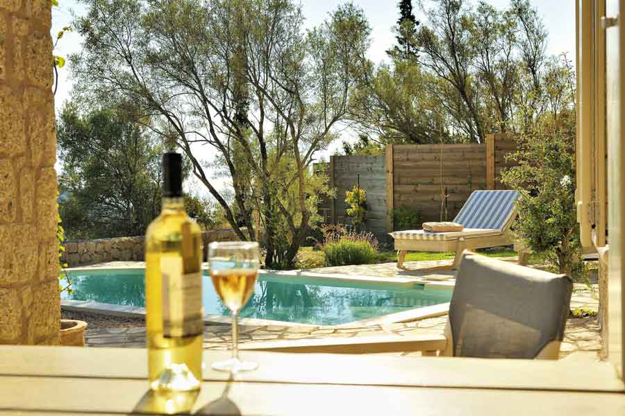 private pool villa for honey moon, relax with a drink at your pool